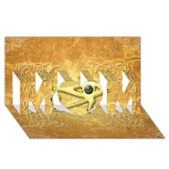 The All Seeing Eye With Eye Made Of Diamond Mom 3d Greeting Card (8x4)