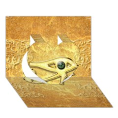 The All Seeing Eye With Eye Made Of Diamond Heart 3d Greeting Card (7x5)