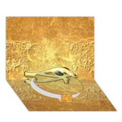 The All Seeing Eye With Eye Made Of Diamond Circle Bottom 3D Greeting Card (7x5)