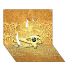 The All Seeing Eye With Eye Made Of Diamond Apple 3D Greeting Card (7x5)