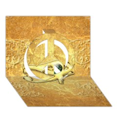 The All Seeing Eye With Eye Made Of Diamond Peace Sign 3D Greeting Card (7x5)