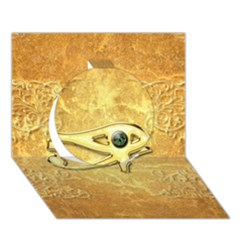 The All Seeing Eye With Eye Made Of Diamond Circle 3D Greeting Card (7x5)