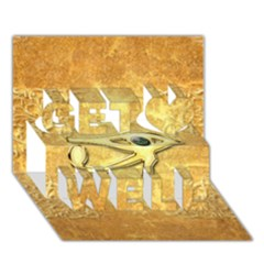 The All Seeing Eye With Eye Made Of Diamond Get Well 3d Greeting Card (7x5)