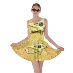 The All Seeing Eye With Eye Made Of Diamond Skater Dresses