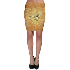 The All Seeing Eye With Eye Made Of Diamond Bodycon Skirts