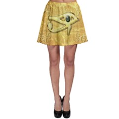 The All Seeing Eye With Eye Made Of Diamond Skater Skirts