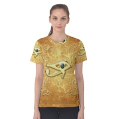 The All Seeing Eye With Eye Made Of Diamond Women s Cotton Tees