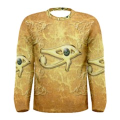 The All Seeing Eye With Eye Made Of Diamond Men s Long Sleeve T Shirts