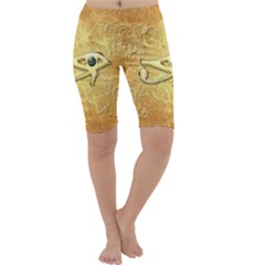 The All Seeing Eye With Eye Made Of Diamond Cropped Leggings