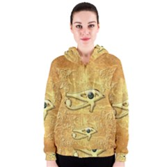 The All Seeing Eye With Eye Made Of Diamond Women s Zipper Hoodies