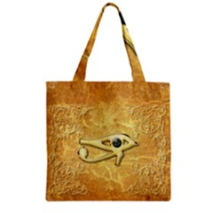 The All Seeing Eye With Eye Made Of Diamond Zipper Grocery Tote Bags