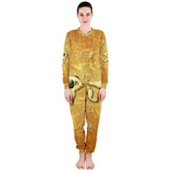 The All Seeing Eye With Eye Made Of Diamond OnePiece Jumpsuit (Ladies)