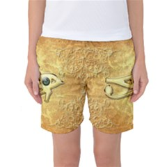 The All Seeing Eye With Eye Made Of Diamond Women s Basketball Shorts
