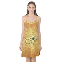 The All Seeing Eye With Eye Made Of Diamond Camis Nightgown