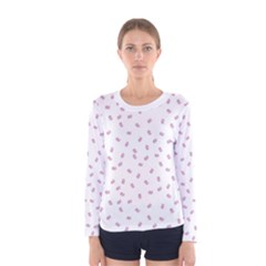 Officially Sexy Os Collection Pink & White Women s Long Sleeve T Shirt
