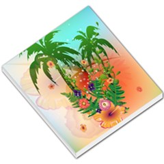 Tropical Design With Palm And Flowers Small Memo Pads