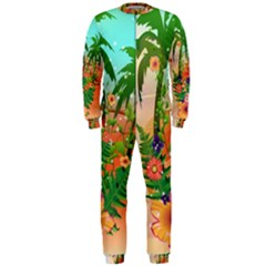 Tropical Design With Palm And Flowers OnePiece Jumpsuit (Men)