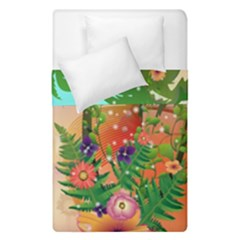 Tropical Design With Palm And Flowers Duvet Cover (single Size)