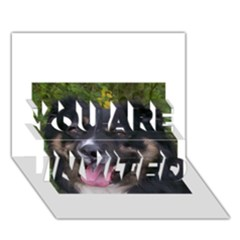 Australian Shepherd Black Tri YOU ARE INVITED 3D Greeting Card (7x5)