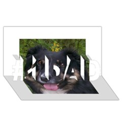 Australian Shepherd Black Tri #1 DAD 3D Greeting Card (8x4)