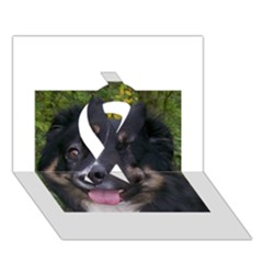Australian Shepherd Black Tri Ribbon 3D Greeting Card (7x5)