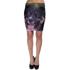 Australian Shepherd Black Tri Bodycon Skirts