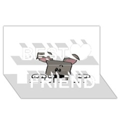 Peeping Miniature Schnauzer Best Friends 3D Greeting Card (8x4)
