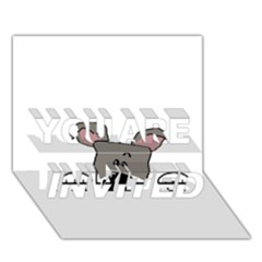 Peeping Miniature Schnauzer YOU ARE INVITED 3D Greeting Card (7x5)