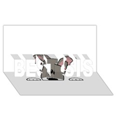 Peeping Miniature Schnauzer BEST SIS 3D Greeting Card (8x4)