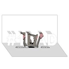 Peeping Miniature Schnauzer #1 Dad 3d Greeting Card (8x4)