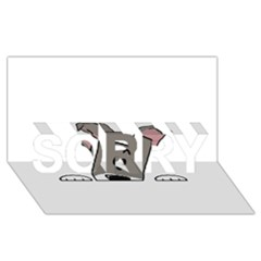 Peeping Miniature Schnauzer SORRY 3D Greeting Card (8x4)