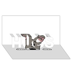 Peeping Miniature Schnauzer HUGS 3D Greeting Card (8x4)