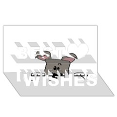Peeping Miniature Schnauzer Best Wish 3D Greeting Card (8x4)