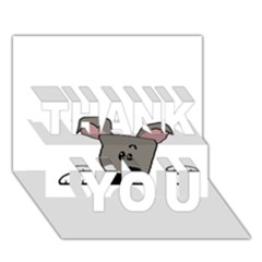 Peeping Miniature Schnauzer THANK YOU 3D Greeting Card (7x5)