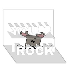 Peeping Miniature Schnauzer You Rock 3D Greeting Card (7x5)