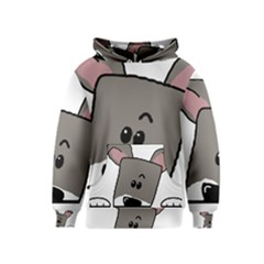 Peeping Miniature Schnauzer Kid s Pullover Hoodies