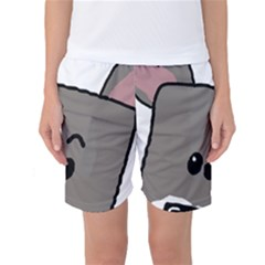 Peeping Miniature Schnauzer Women s Basketball Shorts