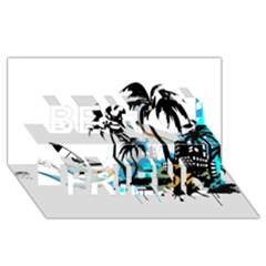 Surfing Best Friends 3d Greeting Card (8x4)