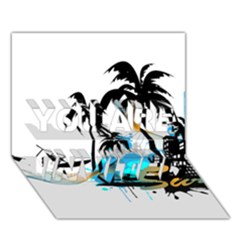 Surfing YOU ARE INVITED 3D Greeting Card (7x5)