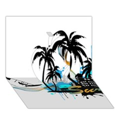 Surfing Apple 3D Greeting Card (7x5)