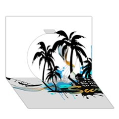 Surfing Circle 3D Greeting Card (7x5)