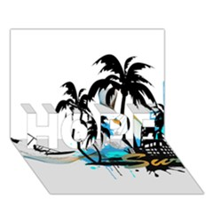 Surfing Hope 3d Greeting Card (7x5)