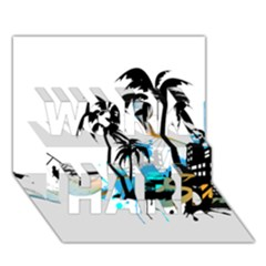 Surfing Work Hard 3d Greeting Card (7x5)