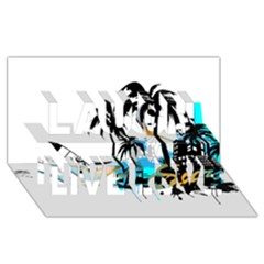Surfing Laugh Live Love 3D Greeting Card (8x4)