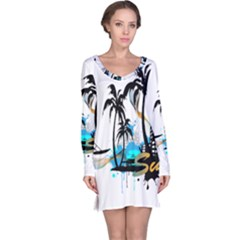 Surfing Long Sleeve Nightdresses