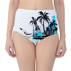 Surfing High Waist Bikini Bottoms
