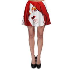 Women Face With Clef Skater Skirts