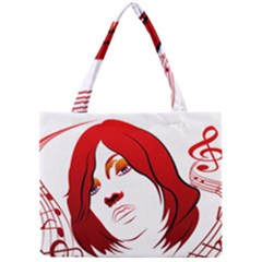 Women face with clef Tiny Tote Bags