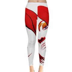 Women face with clef Winter Leggings