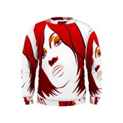 Women face with clef Boys  Sweatshirts